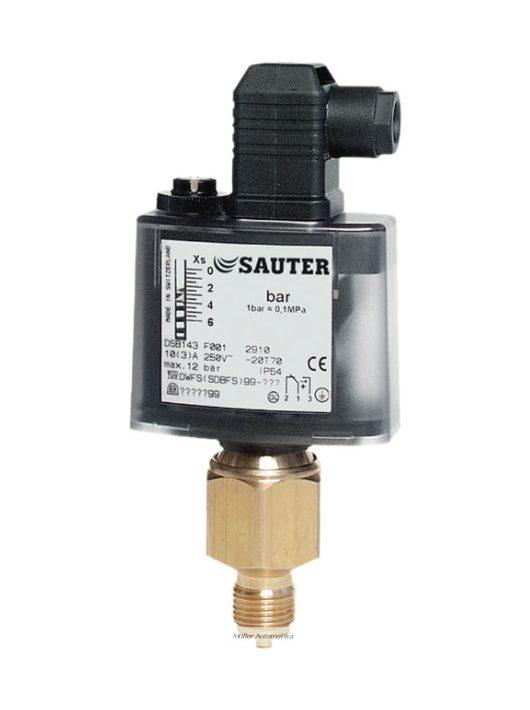 Sauter DSFxxxF001 nyomáskapcsoló hűtési-fűtési rendszerekhez 0..0.6-2.5-6-10-16bar aggresszív közegekhez