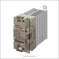 OMRON G3PE-545B-DC12-24 nullátmenetes 200-480VAC/45A/18kW-os szilárdtestrelé DC12-24V vezérléssel, hűtőbordával, DIN-sinre