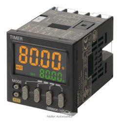 H5CX-A-N előlapba építhető időzítő digitális időzítő 230V-os tápfeszültségre relés kimenettel