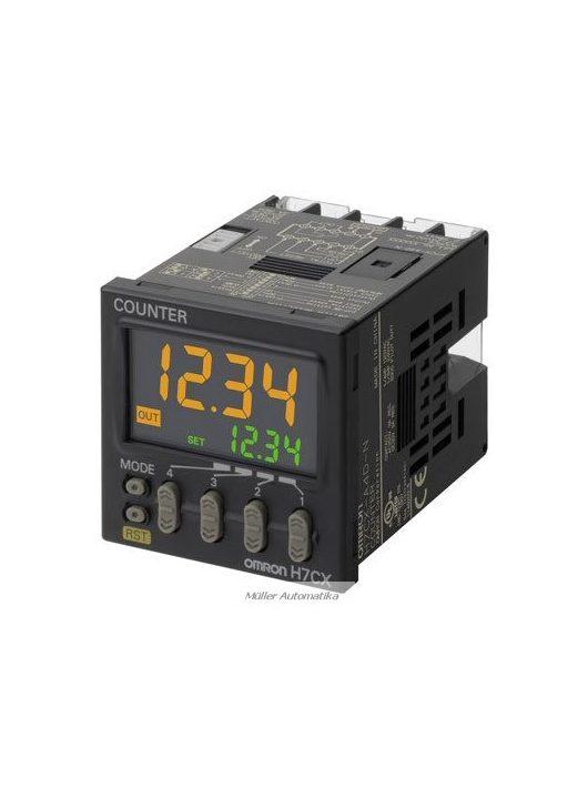 H7CXA-4N-100-240VAC előre beállítható 4-számjegyes 1-szintű számláló csavaros bekötéssel